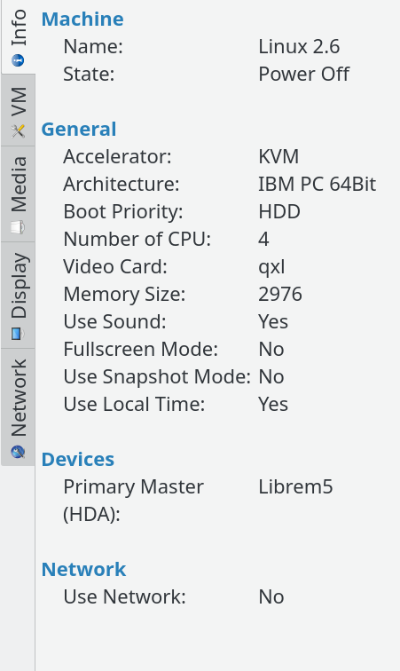 What is the last good devkit img build to run the Librem 5 in qemu